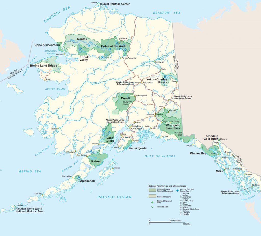 Alaska's Nationalparks (Karte: NPS)