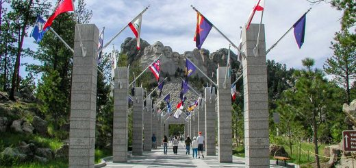 Avenue of the Flags, Mt. Rushmore, South Dakota
