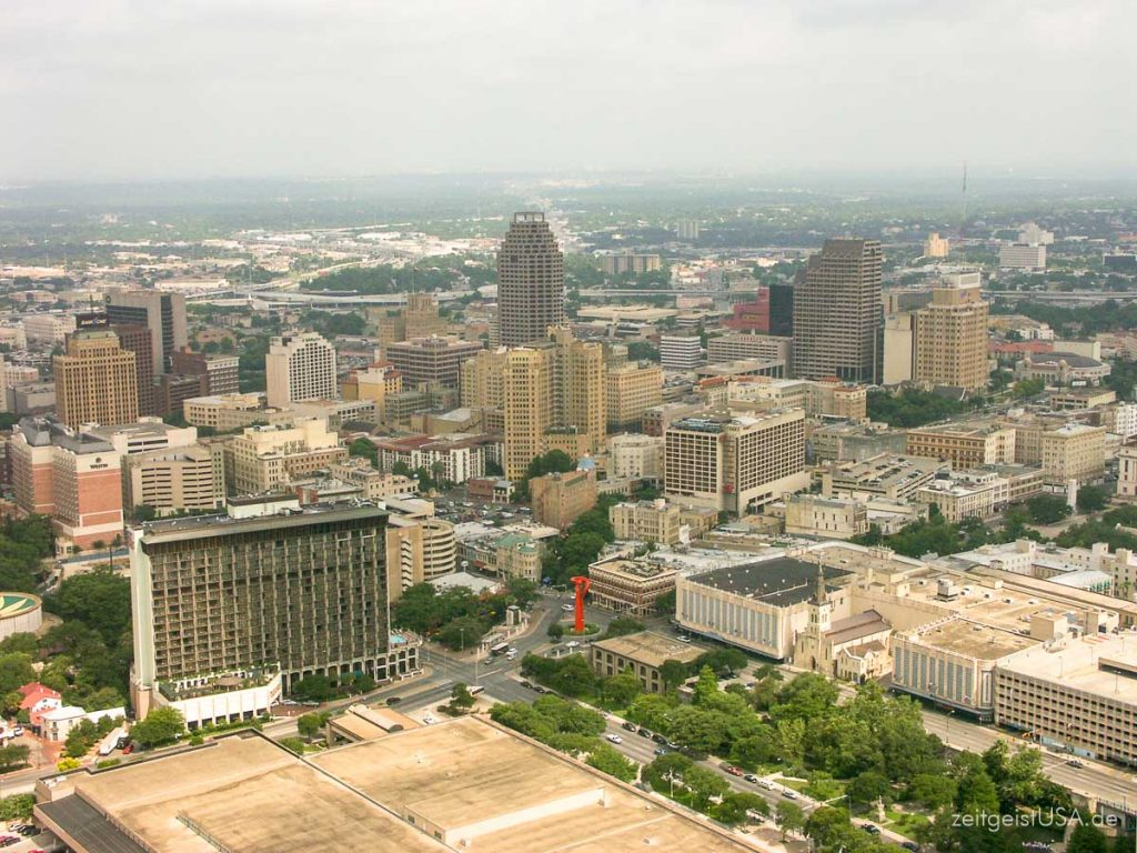 Aussicht vom Tower of the Americas, San Antonio, Texas