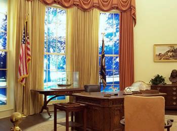Nachbildung des Oval Office als Jimmy Carter Präsident war (Bild: Jimmy Carter Presidential Library)