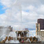 Chicago Skyline vom Millennium Park gesehen - Chicago Architektur