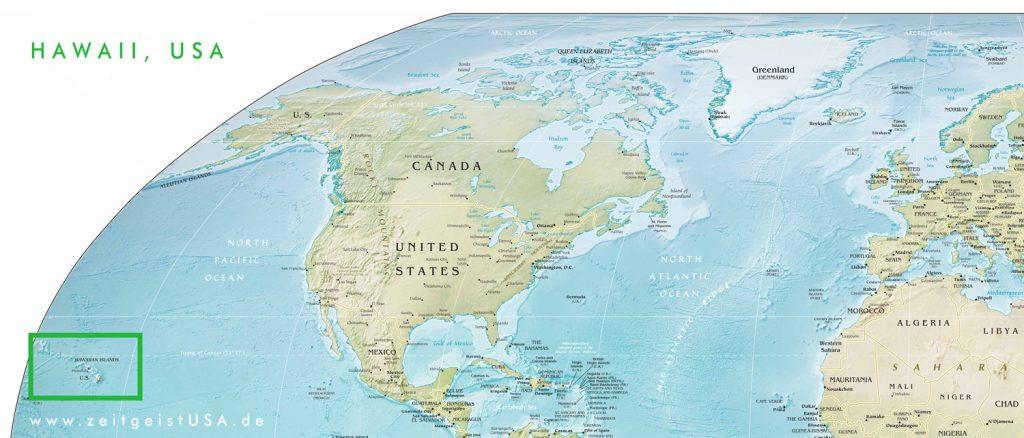Wo liegt Hawaii ? (Karte)