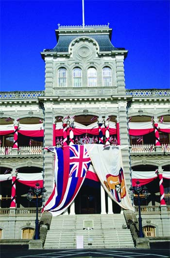 Iolani Palace, Oahu, Hawaii (photo: Hawaii Tourism Japan)