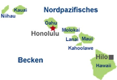 Die Inseln von Hawaii (Karte)