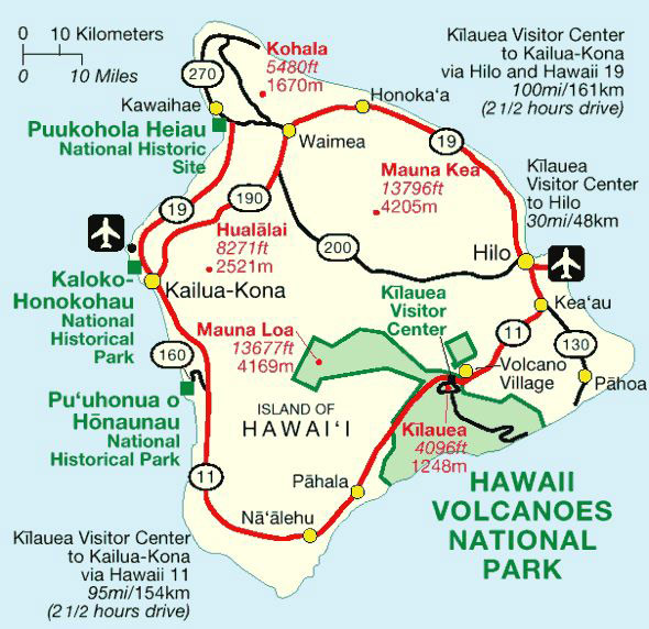National Parks auf Big Island, Hawaii (NPS, public domain)