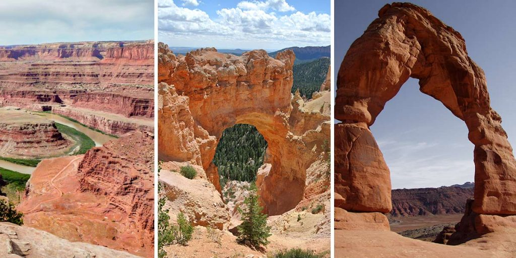 Utah, USA -- Nationalparks wie Arches, Bryce Canyon, Canyonlands, Zion und Capitol Reef