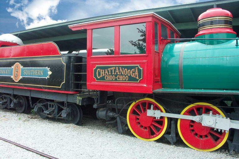 Chattanooga, Tennessee und der Choo-Choo Zug