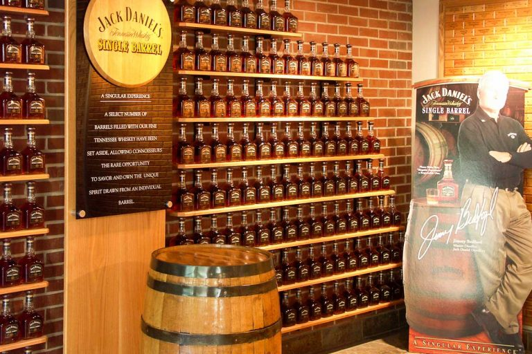 Jack Daniel's Whisky Distillery in Lynchburg, Tennessee