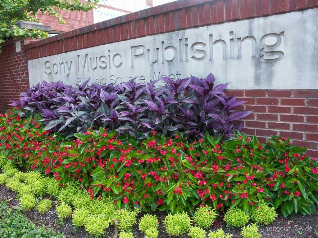Alle namhaften Platten Labels finden sich hier in Nashville, Tennessee