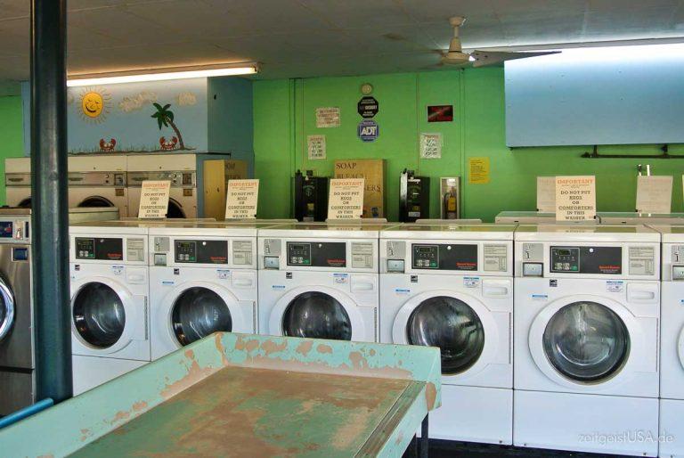 Waschsalons und Waschen unterwegs im Urlaub
