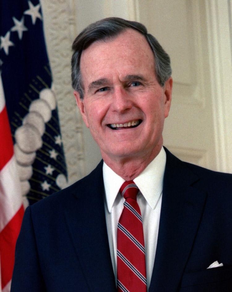George H W Bush, 41. Präsident der USA