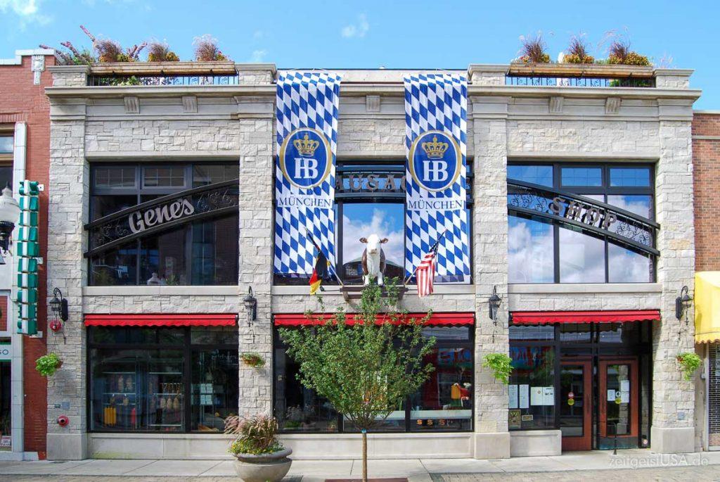 Viel Duetsches und Bayerisches ist am Lincoln Square, Chicago, zu finden
