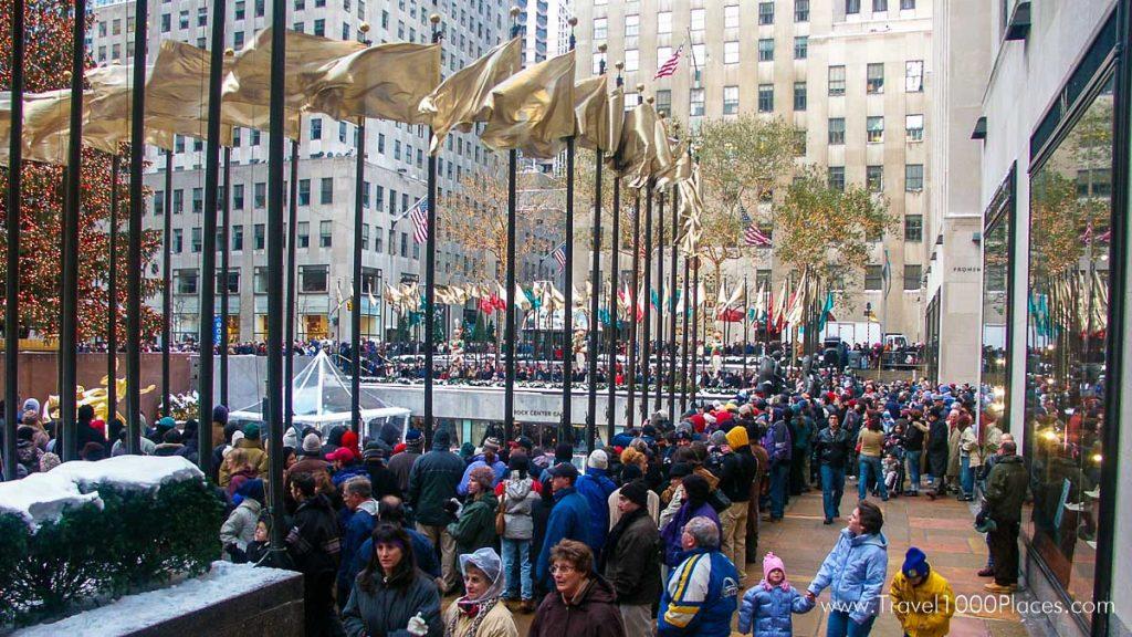 Rockefeller Center, NYC: Alljährlich findet hier die feierliche Erleuchtungszeremonie des Weihnachtsbaumes statt.