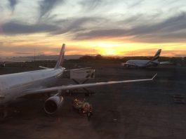 Airport am frühen Morgen
