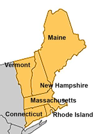 Neuengland Staaten USA