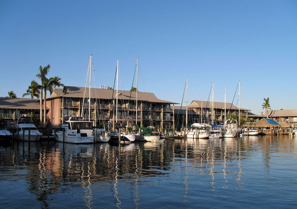 City Dock in Naples, Florida [photo: Marc Ryckaert, CC BY-SA 4.0 https://creativecommons.org/licenses/by-sa/4.0, via Wikimedia Commons]