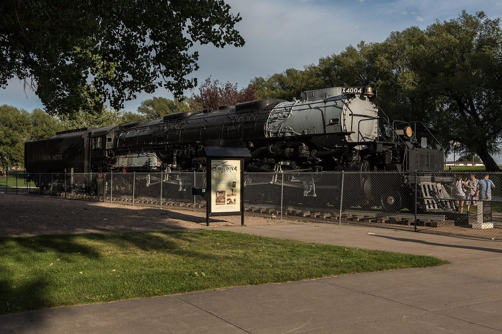 Big Boy #4004 in Cheyenne, Wyoming [David Brossard, CC BY-SA 2.0 https://creativecommons.org/licenses/by-sa/2.0, via Wikimedia Commons]