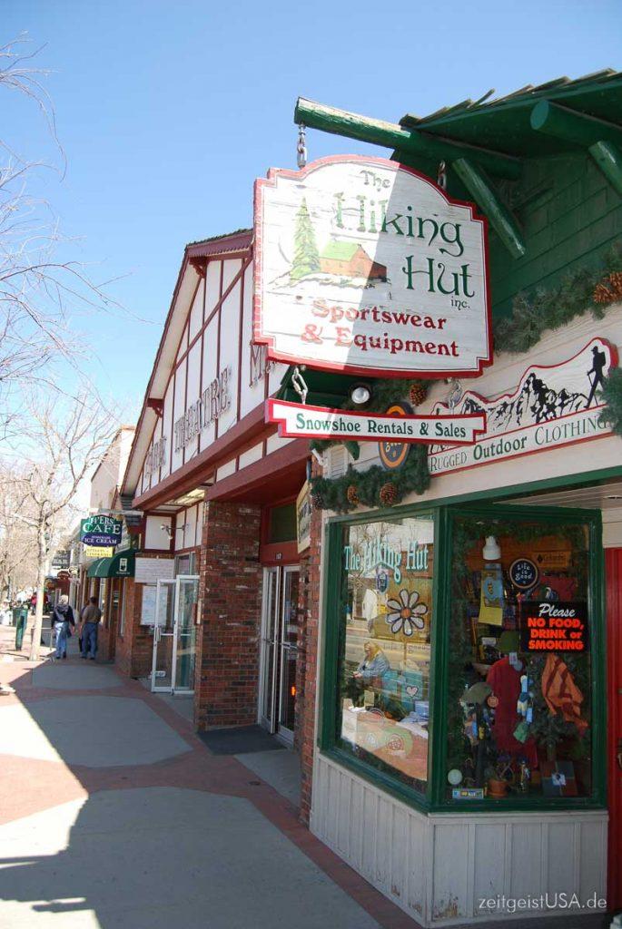 Shops in Estes Park, Colorado, USA