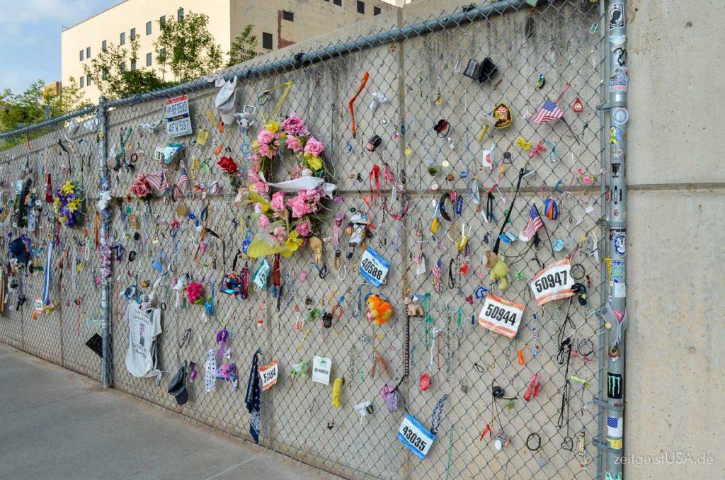Oklahoma City National Memorial zur Erinnerung an das Bombenattentat im Jahre 1995.